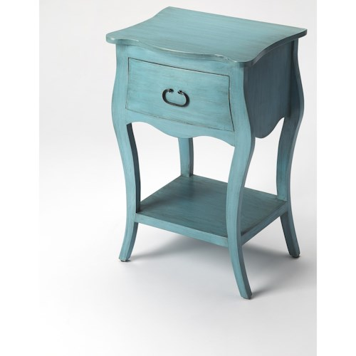 Butler Specialty Company Masterpiece  Rochelle Distressed Blue Nightstand