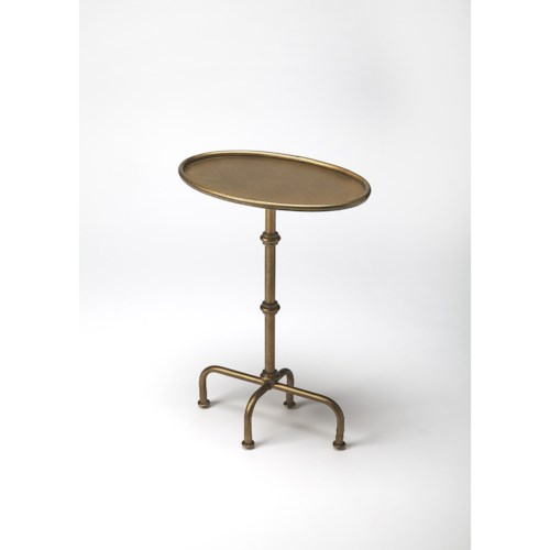 Butler Specialty Company Metalworks Kira Antique Gold Pedestal Table