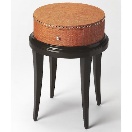 Butler Specialty Company Modern Expressions Hat Box Modern Accent Table