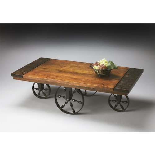 Butler Specialty Company Mountain Lodge Wagon Cocktail Table
