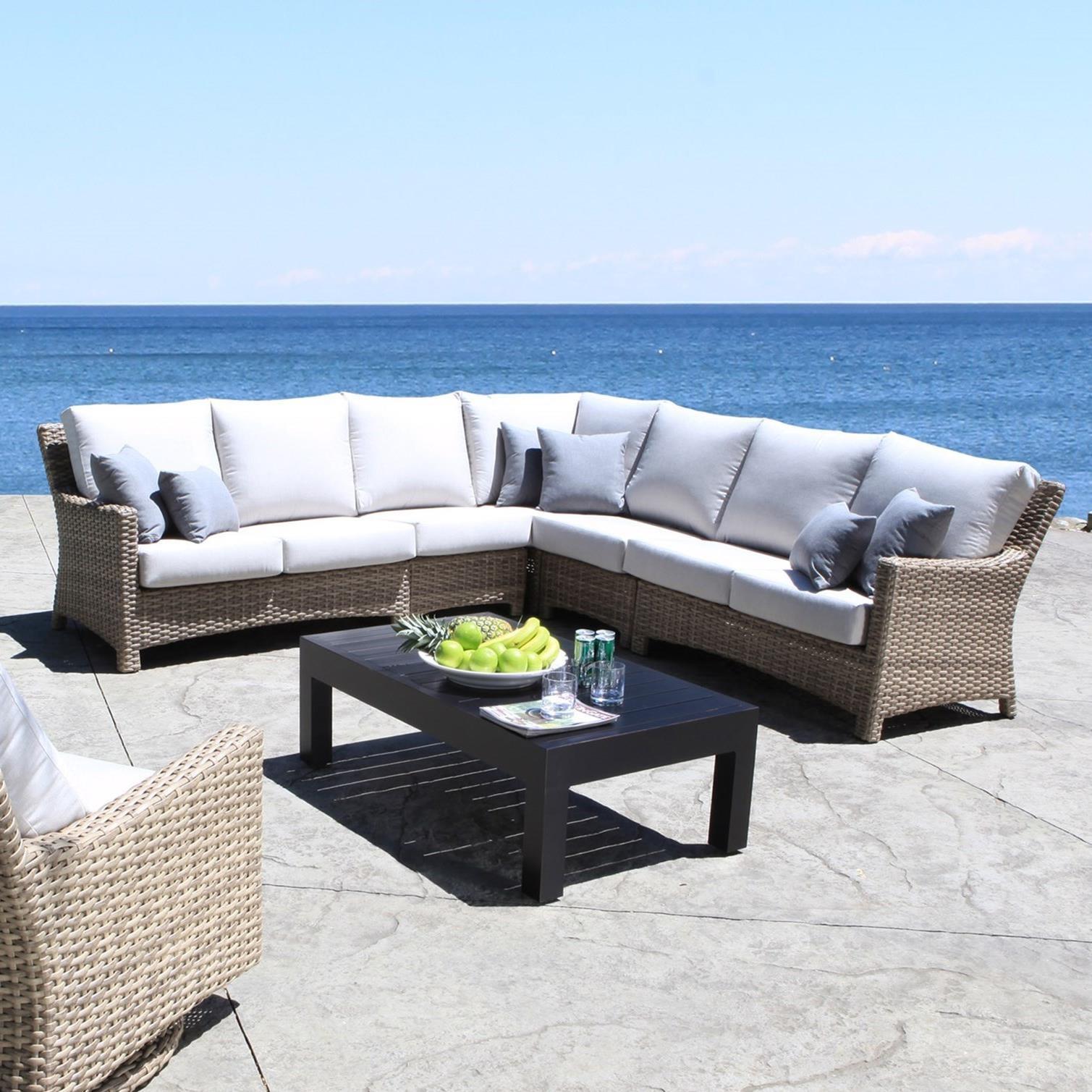 Cabana Coast Riverside 5 Piece Outdoor Sectional   Hudsonu0027s Furniture    Outdoor Sectional Sofa Group