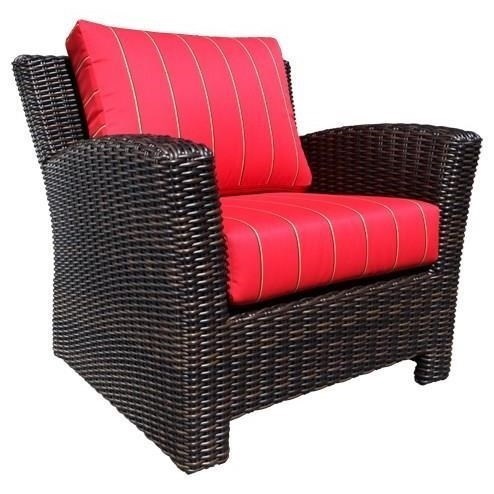 Cabana Coast Westport Deep Seating Accent Chair With Wicker Frame