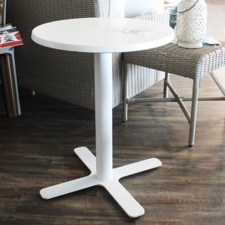 23 inch Round White Table