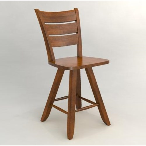 Canadel Custom Dining - Customized Swivel Counter Stool