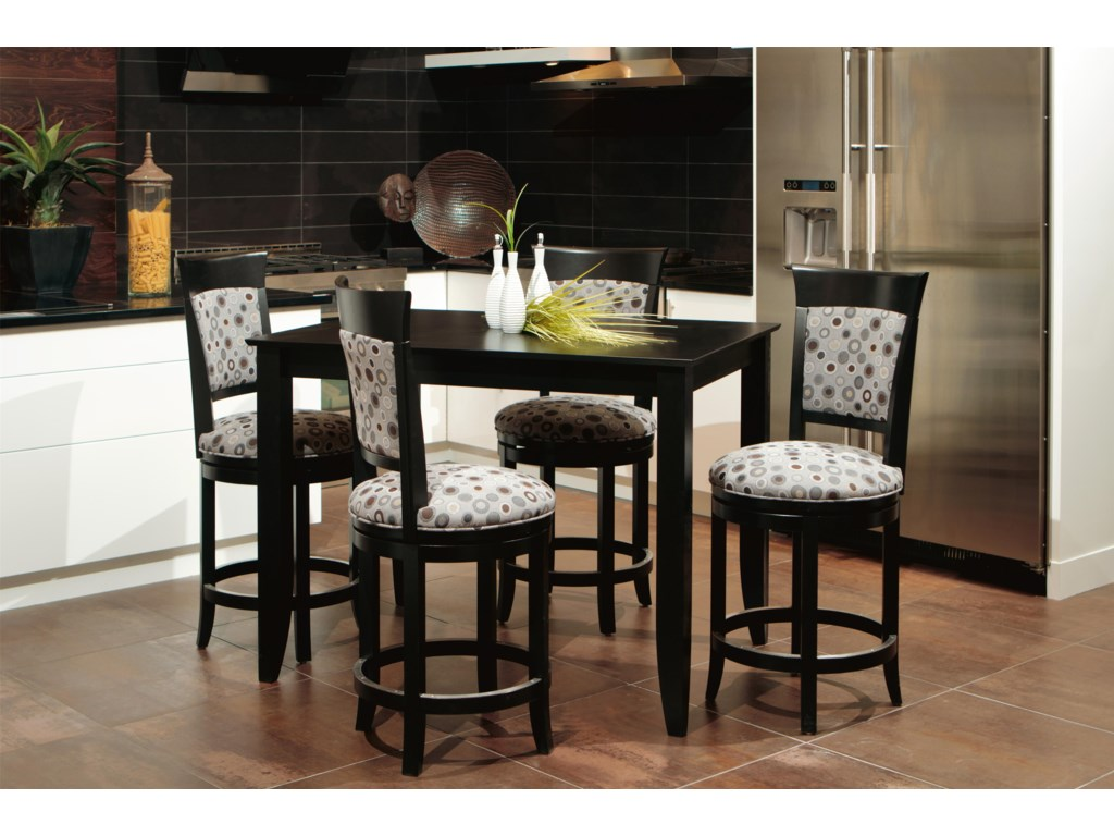 4 Stools Shown with Pub Table