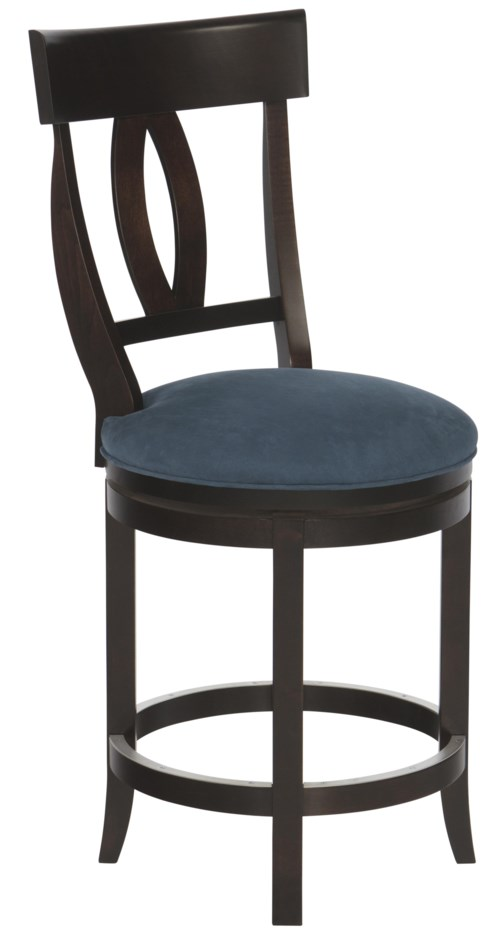 Canadel Bar Stools Customizable 24 Quot Upholstered Swivel