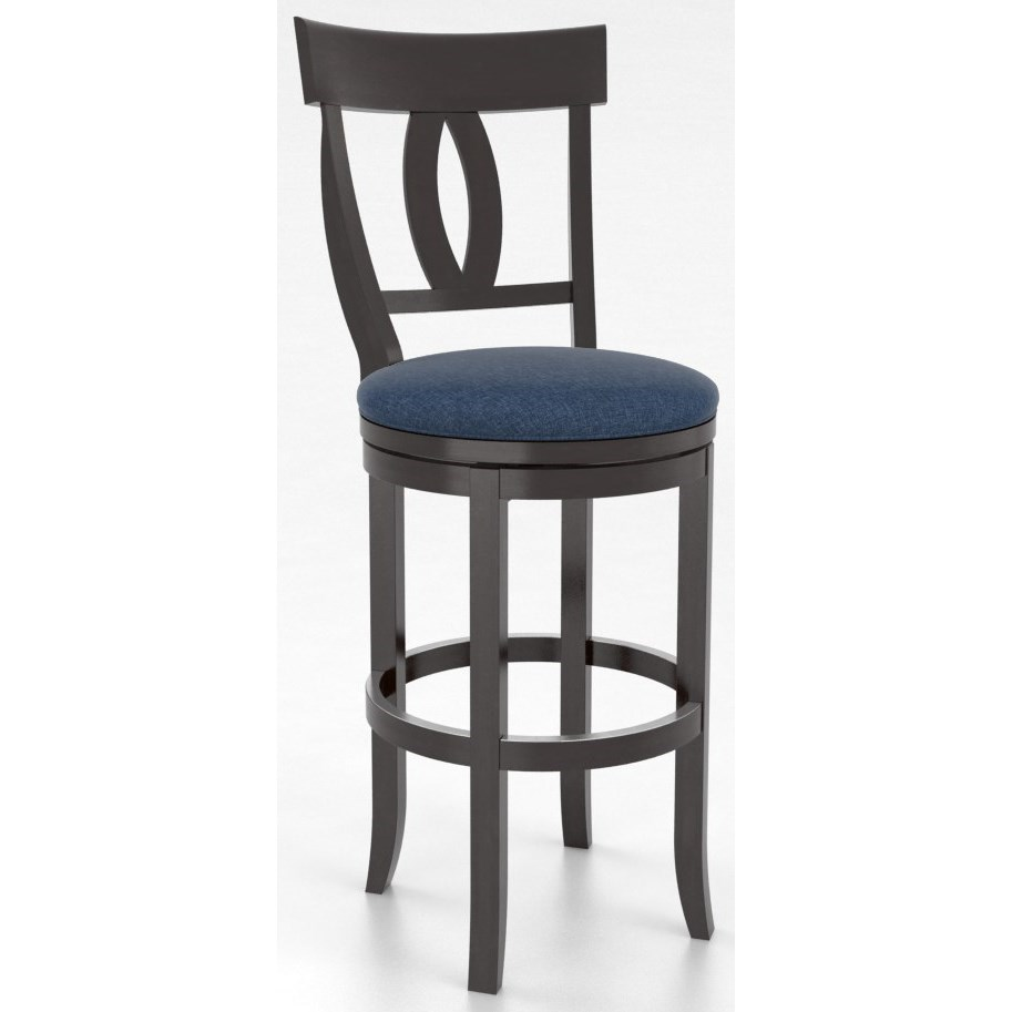 Canadel Bar Stools Customizable 30 Upholstered Swivel Stool