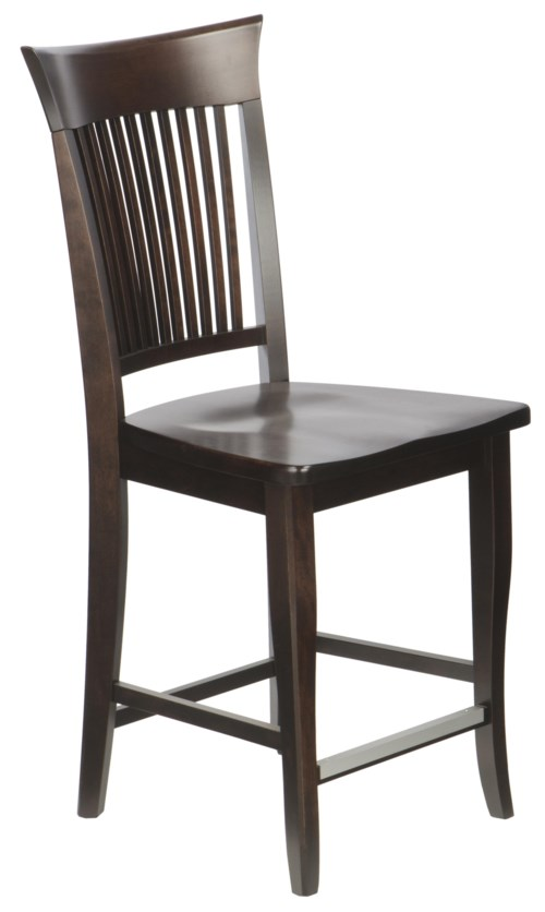 Canadel Bar Stools Customizable 24 Quot Wood Seat Fixed Stool