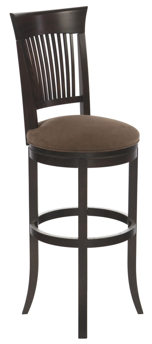 Canadel Bar Stools Customizable 36 Upholstered Swivel Stool Turk