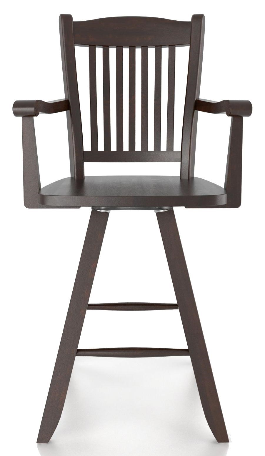 Canadel Bar Stools Customizable 24 Swivel Stool With Arms Turk