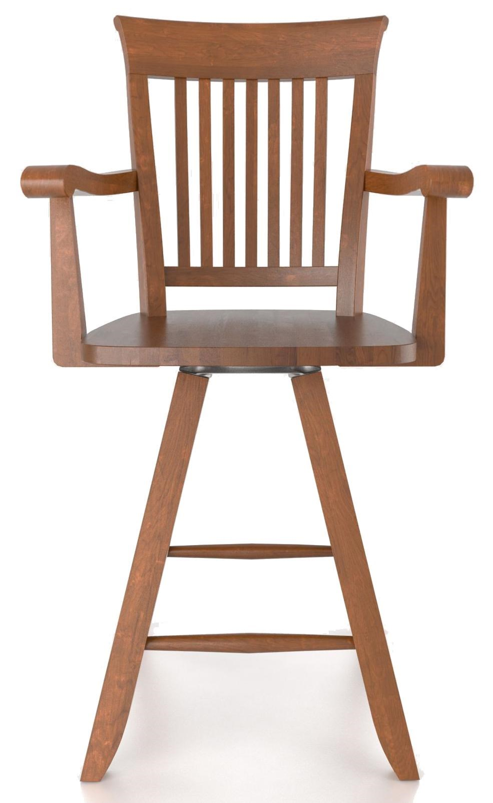 Canadel Bar Stools Customizable 24 Swivel Stool With Arms
