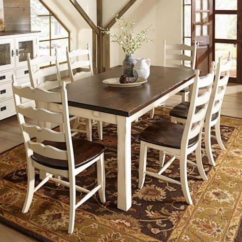 Canadel Champlain - Custom Dining Customizable Rectangular Table Set