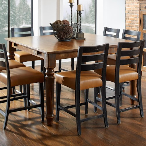 Canadel Champlain - Custom Dining Customizable Square Counter Table