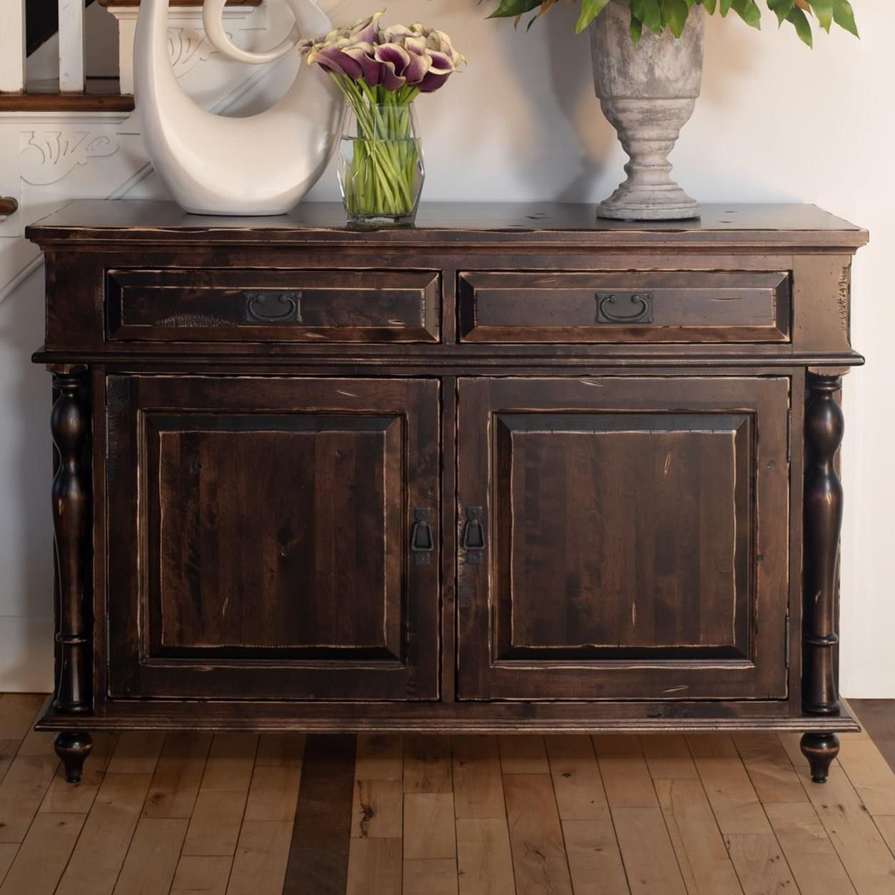 Customizable Buffet with Distressed Finish