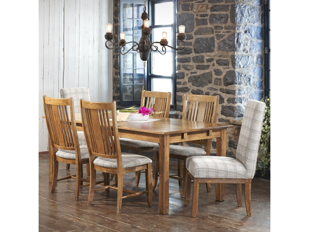 Canadel Champlain Customizable Rectangular Table Set Dunk Bright