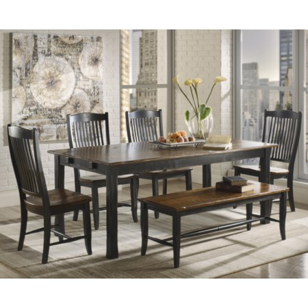 <b>Customizable</b> Rectangular Table Set