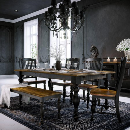 Customizable Table Set with Bench
