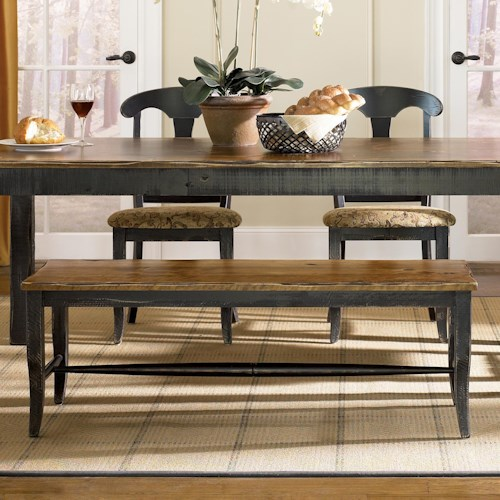 Canadel Champlain - Custom Dining Customizable Dining Bench - Wood Seat