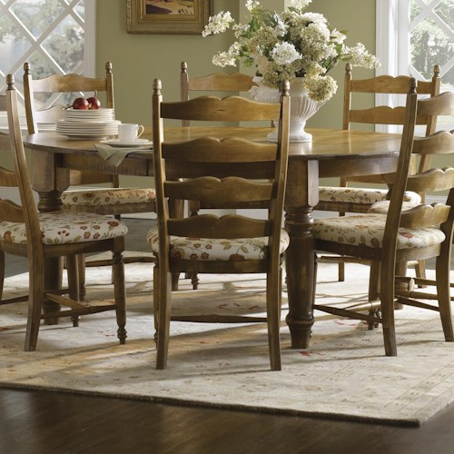 Canadel Champlain - Custom Dining Customizable Round Table with Legs