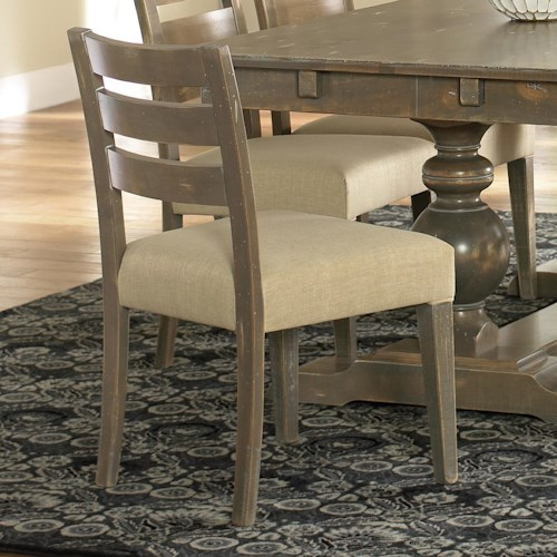 Canadel Champlain - Custom Dining Customizable Upholstered Side Chair with Ladder Back
