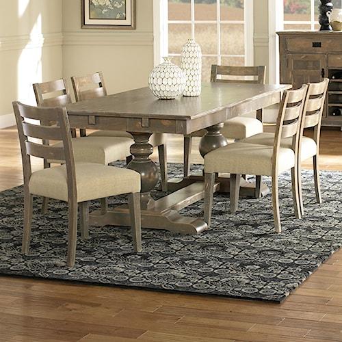 Canadel Champlain - Custom Dining Customizable Rectangular Table Set with Trestle Base