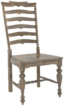 Canadel Champlain - Custom Dining Customizable Side Chair with Ladder Back and Turned Legs