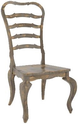 Canadel Champlain - Custom Dining Customizable Side Chair with Ladder Back and Cabriole Legs