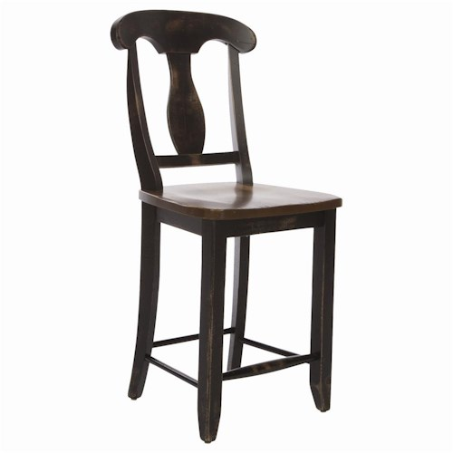 Canadel Champlain - Custom Dining Customizable Splat Back Bar Stool