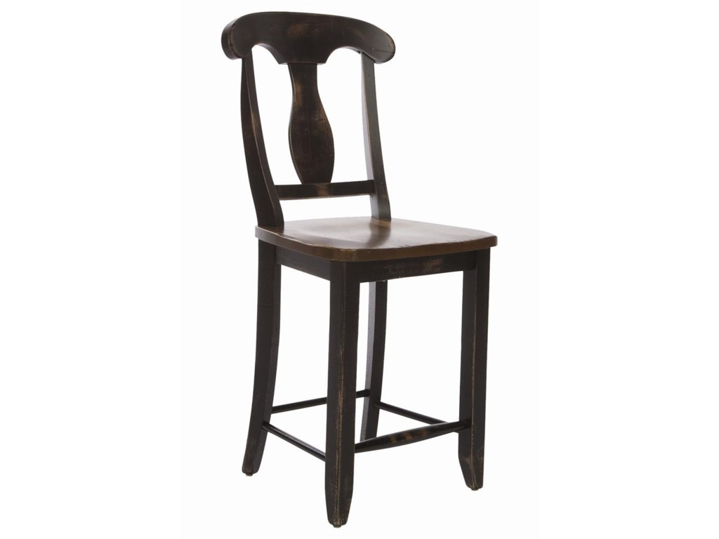 Canadel Champlain - Custom Dining<b>Customizable</b> Splat Back Bar Stool