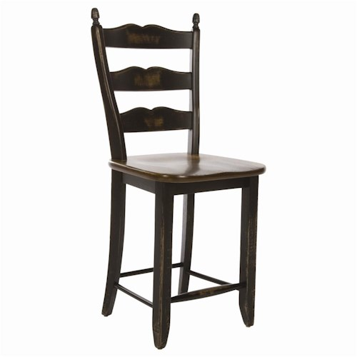 Canadel Champlain - Custom Dining Customizable Sculpted Ladderback Counter Stool