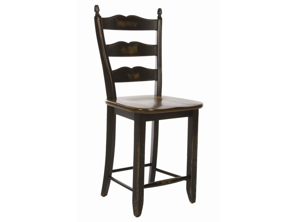 Canadel Champlain - Custom Dining<b>Customizable</b> Ladderback Counter Stool