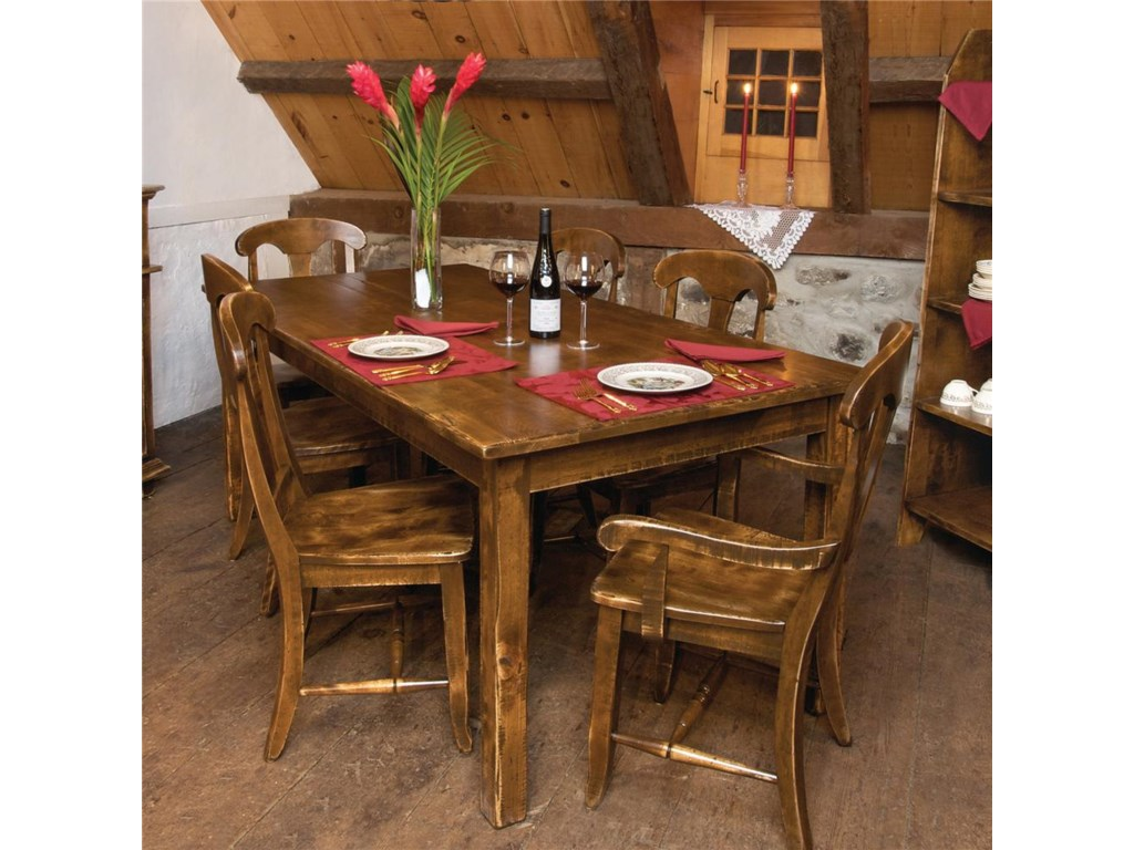 Canadel Champlain - Custom Dining<b>Customizable</b> Table and Chair Set