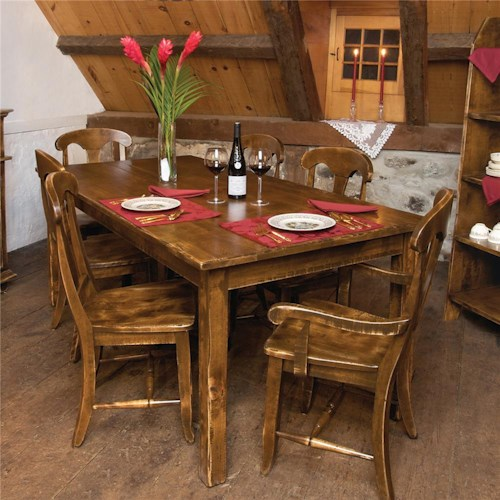 Canadel Champlain - Custom Dining Customizable Traditional Rectangular Dining Table and Chair Set