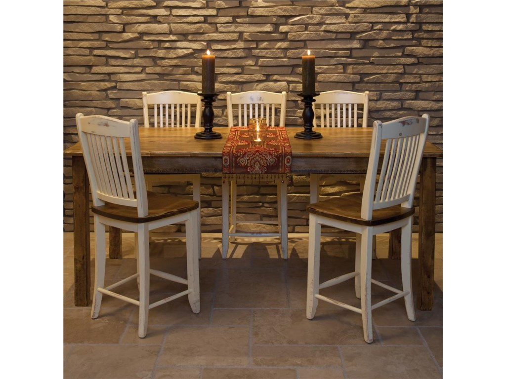 Canadel Champlain - Custom DiningCustomizable Counter Table and Chair Set