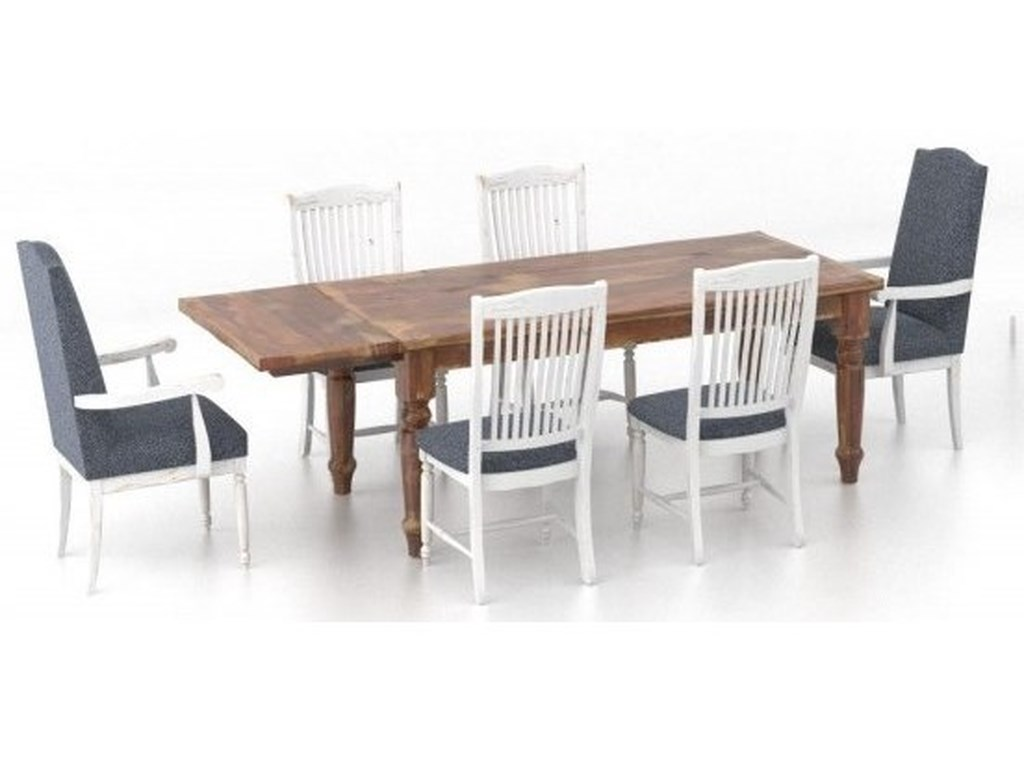 Canadel Champlain - Custom DiningCustomizable 7-Piece Dining Table Set