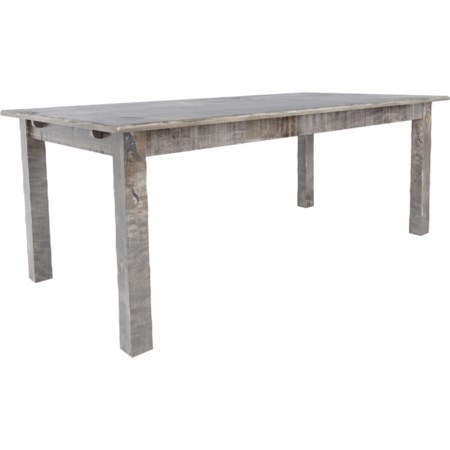 Customizable Rectangular Wood Top Table