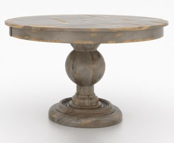 Canadel Champlain Custom Dining Round Wood Solid Top Table - 48 round solid wood dining table