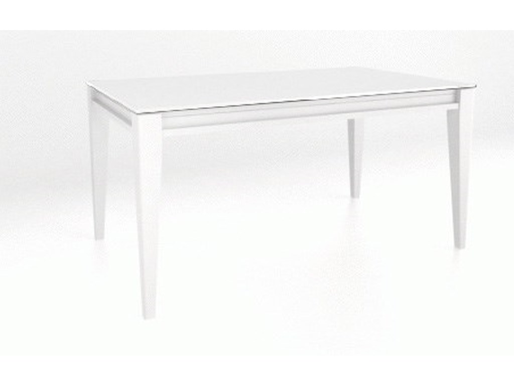 Canadel ClassicCustomizable Glass Top Dining Table
