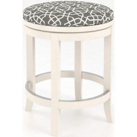"Customizable 26"" Swivel Stool w/ Uph. Seat"