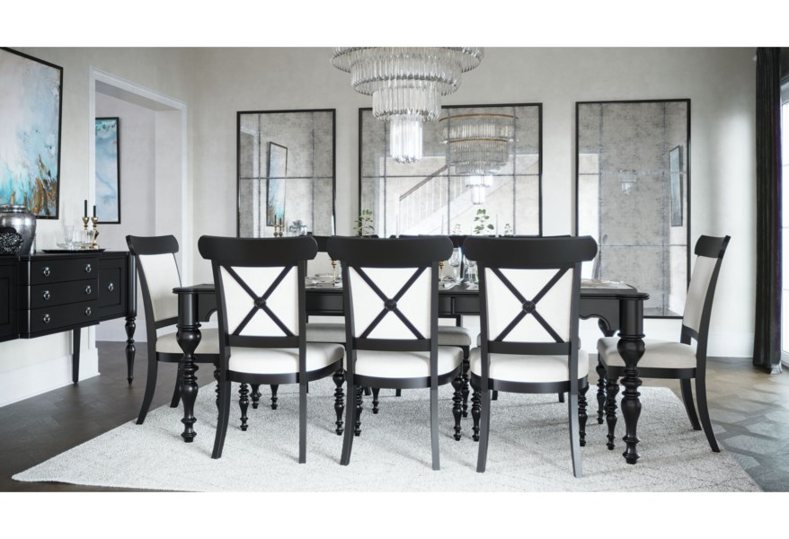 Canadel Classic Rectangular Dining Table Set Jordan S Home Furnishings Dining 7 Or More Piece Sets