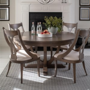 Canadel Classic Round Dining Table Set Sprintz Furniture Dining 5 Piece Sets
