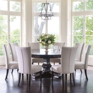 Canadel Classic Trn072721818gtpaf Bas 8xcnn05013 9 Piece 72 Round Dining Table Set Becker Furniture Dining 7 Or More Piece Sets