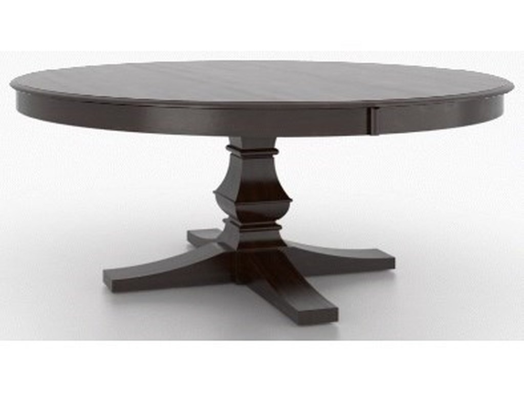 Canadel Clic Customizable 72 Round Dining Table With