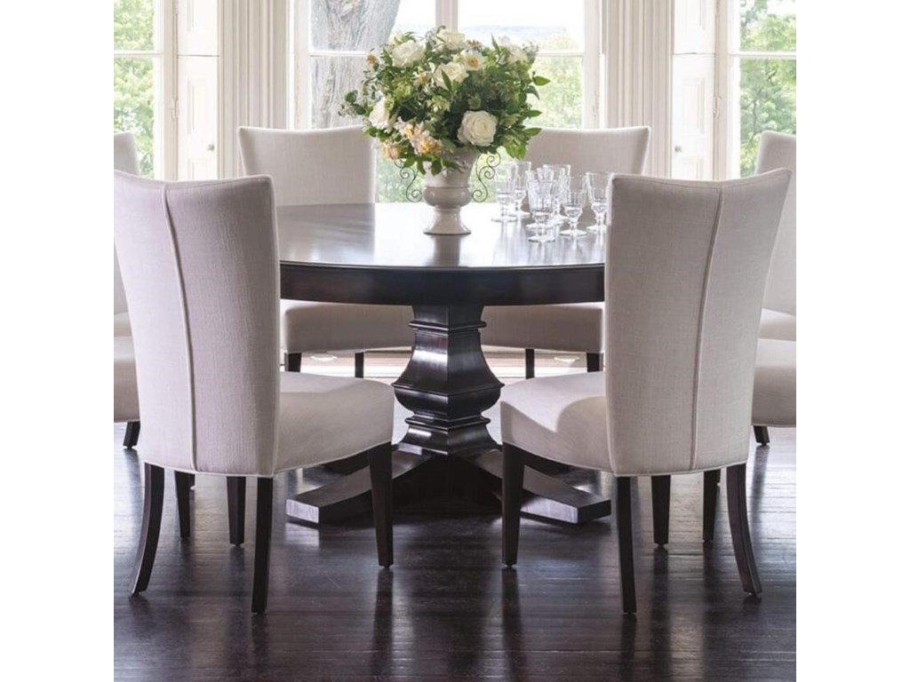 Classic Customizable 72 Round Dining Table With Pedestal Base By Canadel