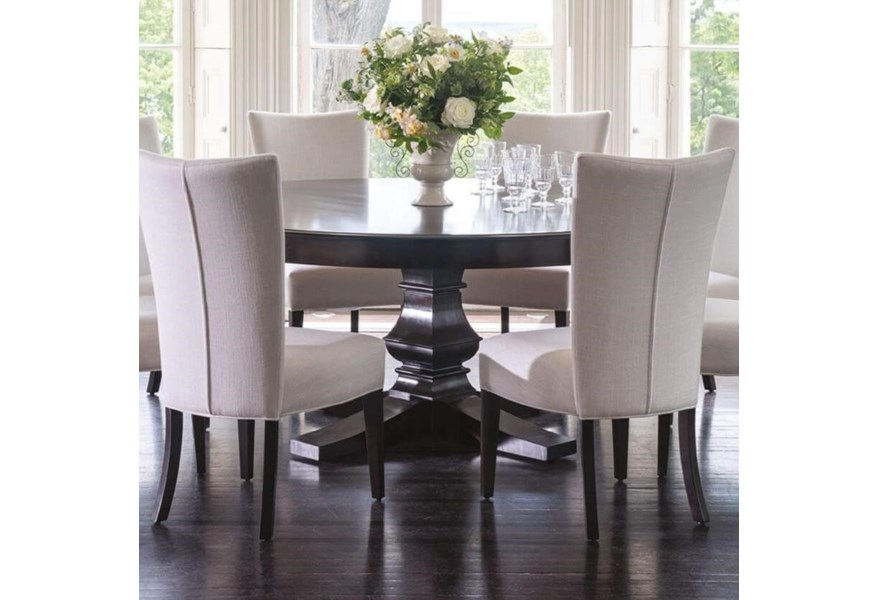 Canadel Classic Customizable 72 Round Dining Table With Pedestal Base Belfort Furniture Dining Tables