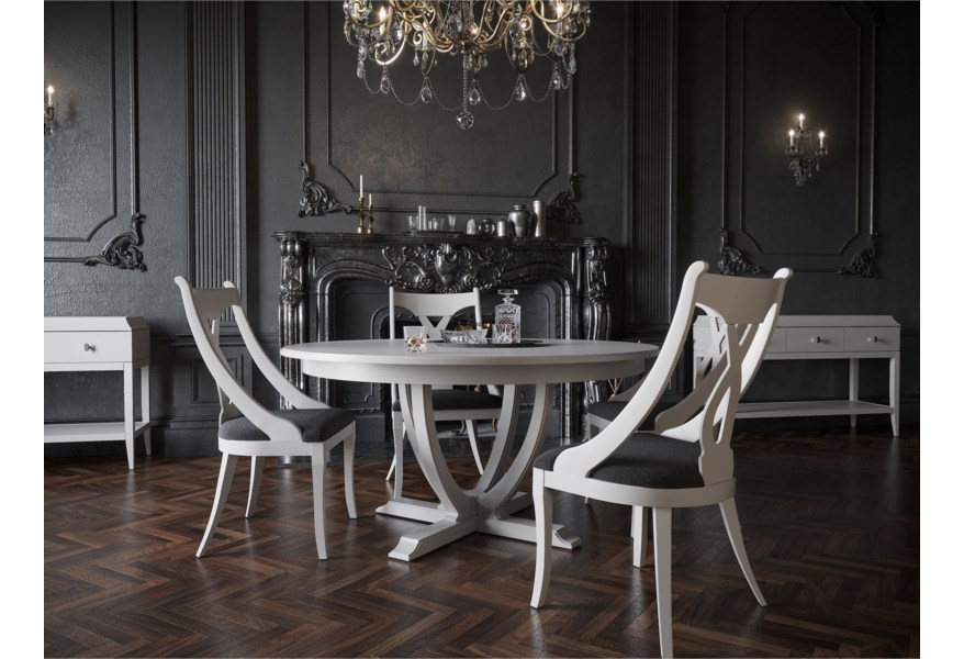 Canadel Classic Round Dining Table Set Wilson S Furniture Dining 5 Piece Sets