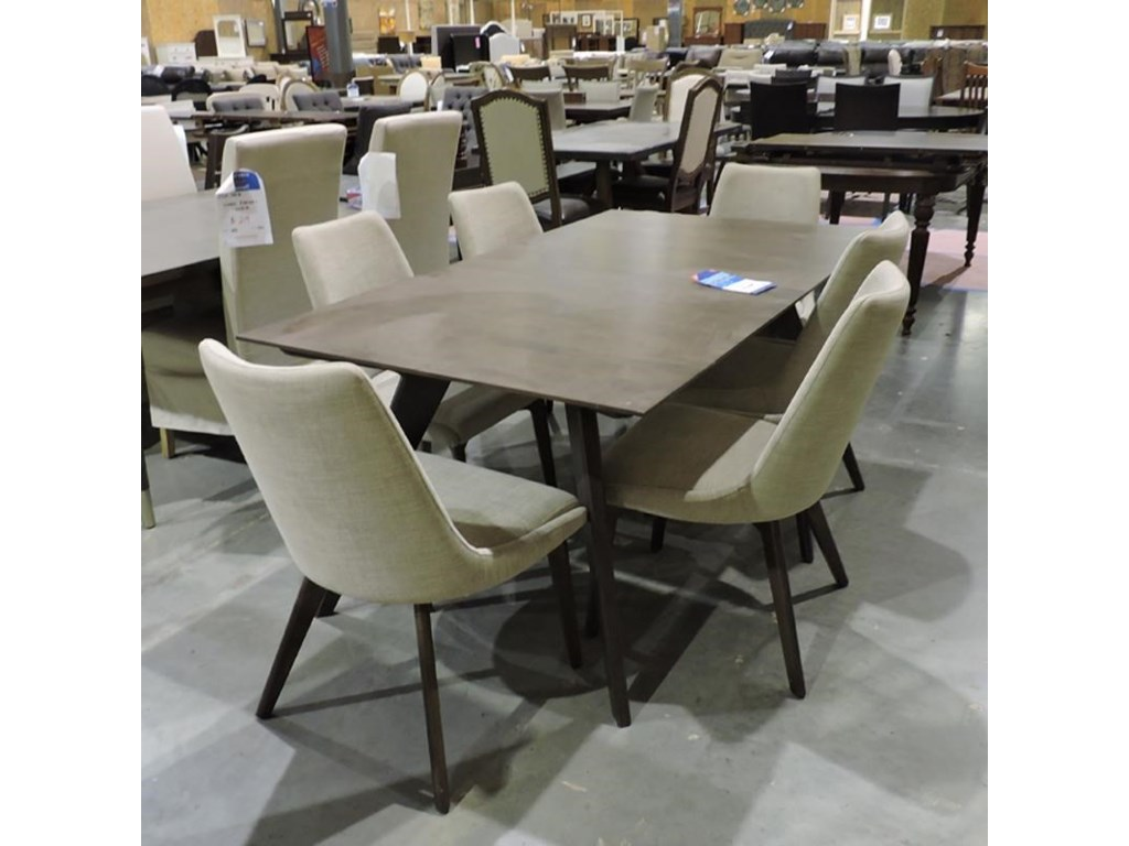 Canadel Clearance Dining Table and 6 Upholstered Chairs   Belfort ...