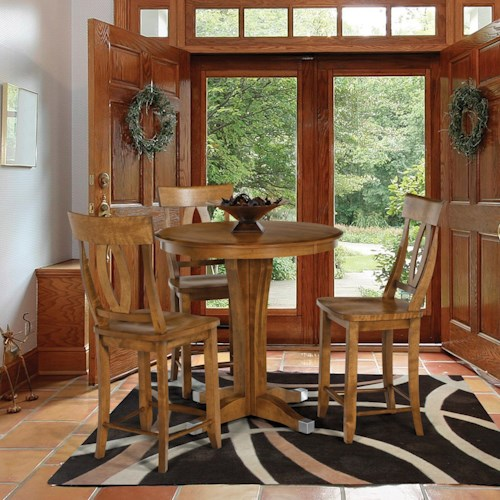 Canadel Custom Dining - High Dining  Customizable 4 Pc. Pub Table & Stool Set