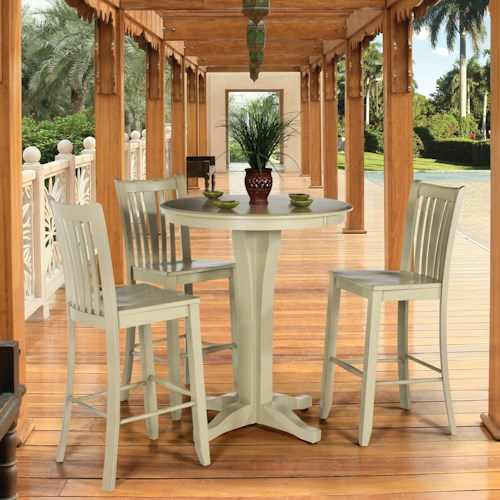 Canadel Custom Dining - High Dining  Customizable Round Pub Table & Stool Set
