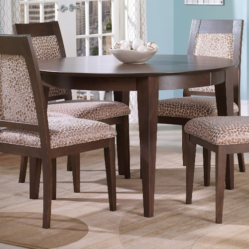 Canadel Custom Dining Customizable Round Table with Legs